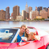 Selfie young couple convertible New York Manhattan Stock Photography
