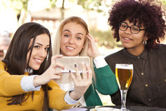 Selfie with your phone Stock Image