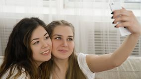 Selfie youth lifestyle friends leisure girls photo royalty free stock images