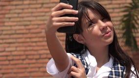 Selfie Of Youthful Girl Stock Photo