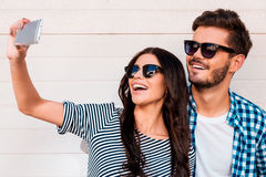 Selfie-Zeit Lizenzfreie Stockfotos