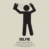 Selfie znaka ludzie Obraz Royalty Free