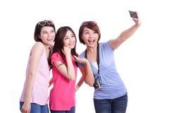 Selfie zusammen Stockfotos