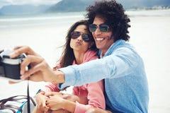 Selfiepaar Stock Foto's