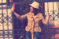 Selfieportret Stock Afbeelding