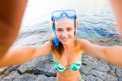 Selfiepret stock foto