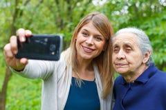Selfies everywhere Stock Images