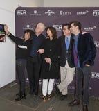 Selfies mit Anna Freud, Richard Curtis, Evelyn Colbert, Stephen Colbert und Luke Parker Bowles Lizenzfreie Stockfotografie