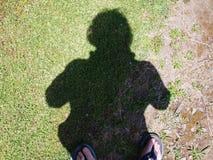 Selfieschaduw stock foto's
