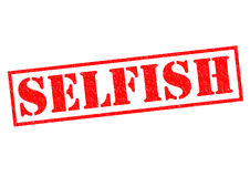 SELFISH. Red Rubber Stamp over a white background Royalty Free Stock Images