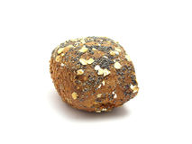 Selfmade bun. Selfmade crunchy wholemeal bun with poppy Royalty Free Stock Photography
