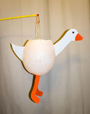 Selfmade goose lantern Stock Photo