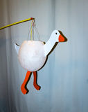 Selfmade goose lantern. For St. Martins Day Stock Photography