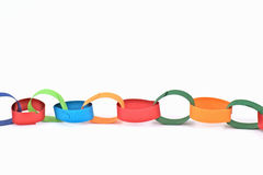 Selfmade paper chain Stock Photo