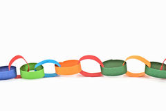 Selfmade paper chain Royalty Free Stock Images