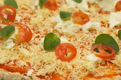 Selfmade pizza Royalty Free Stock Photos
