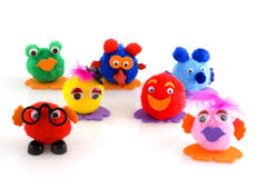 Selfmade puppets Stock Image