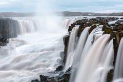 Selfoss. Famous Selfoss waterfall, Jokulsargljufur National Park, Iceland Royalty Free Stock Photos