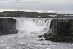 Selfoss siklawa w Jokulsargljufur parku narodowym, Iceland obraz royalty free