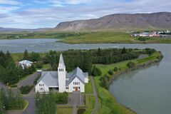 This church is located in Selfoss village.