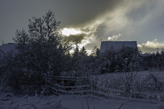 Selfoss town. After winter storm in Selfoss Royalty Free Stock Photos