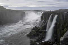Selfoss vattenfall i den Jokulsargljufur nationalparken, Island Royaltyfri Fotografi