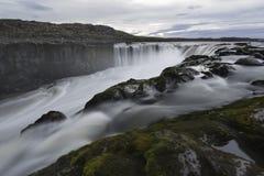 Selfoss vattenfall i den Jokulsargljufur nationalparken, Island Arkivbild