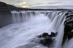 Selfoss vattenfall i den Jokulsargljufur nationalparken, Island Arkivbilder
