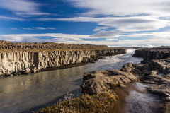 Selfoss waterfall. Autumn travel in Iceland Royalty Free Stock Image
