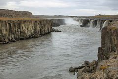 Selfoss waterfall in Iceland Royalty Free Stock Photography
