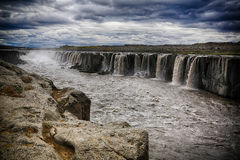 Selfoss waterfall in Iceland. View of Selfoss waterfall in Iceland Stock Image