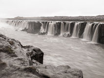 Selfoss waterfall on Jokulsa a Fjollum river in Iceland Stock Image