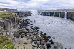 Selfoss waterfall, Northeast Iceland Royalty Free Stock Image