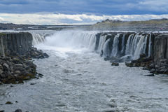 Selfoss waterfall, Northeast Iceland. View of the Selfoss waterfall, in Vatnajokull National Park, Northeast Iceland Stock Image