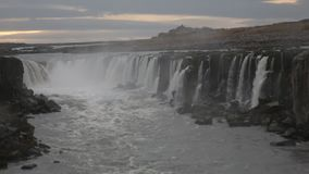 Selfoss Waterfall stock video