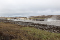 Selfoss, a waterfall on the river Jokulsa a. Royalty Free Stock Photos