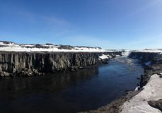 Selfoss Waterfall. In Iceland Royalty Free Stock Images