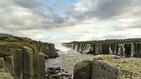 Selfoss waterfall stock video