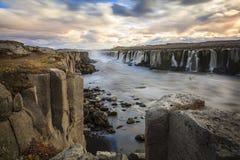 Selfoss waterfall. Selfoss watrfall on Jokulsa a Fjollum river in Iceland Stock Photo