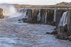 Selfoss Zoomed in - Long Exposure Stock Photography