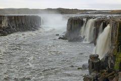 Selfosswaterval in IJsland Royalty-vrije Stock Afbeelding