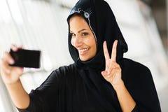 Selfportrait muçulmano da mulher imagens de stock royalty free