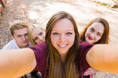 Selfportrait photobomb Royalty Free Stock Images
