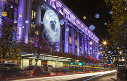 Selfridge on Oxford Street at Christmas Royalty Free Stock Photo