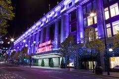Selfridges在伦敦 免版税库存照片