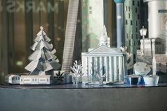 Selfridges,牛津街,伦敦,装饰圣诞节和新的2018年 免版税库存照片