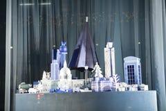 Selfridges,牛津街,伦敦,装饰圣诞节和新的2018年 图库摄影