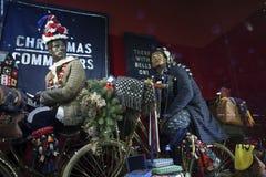 Selfridges,牛津街,伦敦,装饰圣诞节和新的2018年 免版税图库摄影
