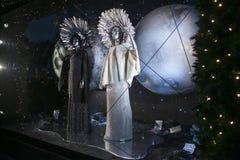 Selfridges,牛津街,伦敦,装饰圣诞节和新的2015年 免版税图库摄影