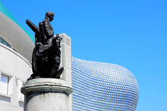 Selfridges και άγαλμα του Nelson, Μπέρμιγχαμ Στοκ Εικόνα